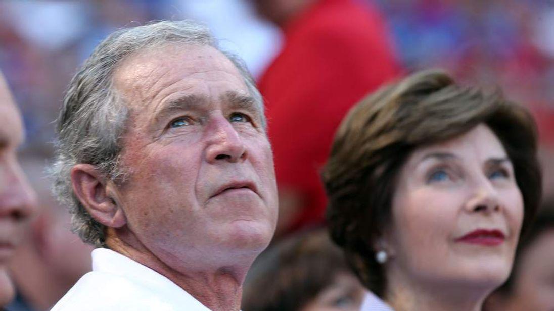 George W. Bush and Laura Bush July 2012