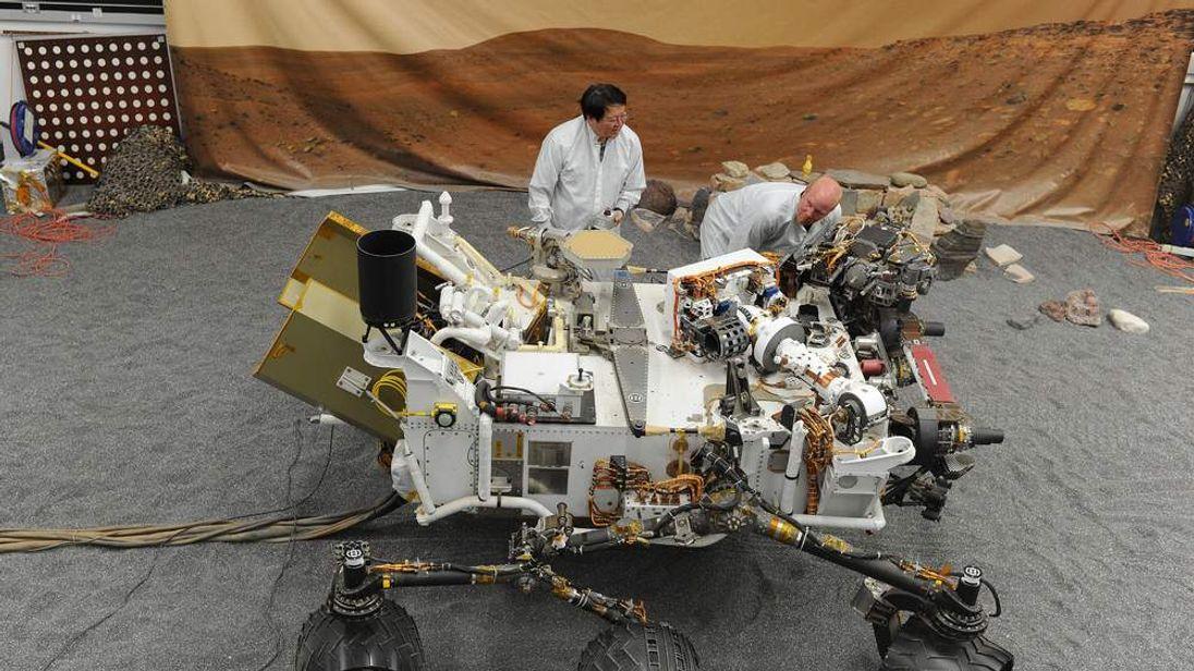 Full size model of Curiosity