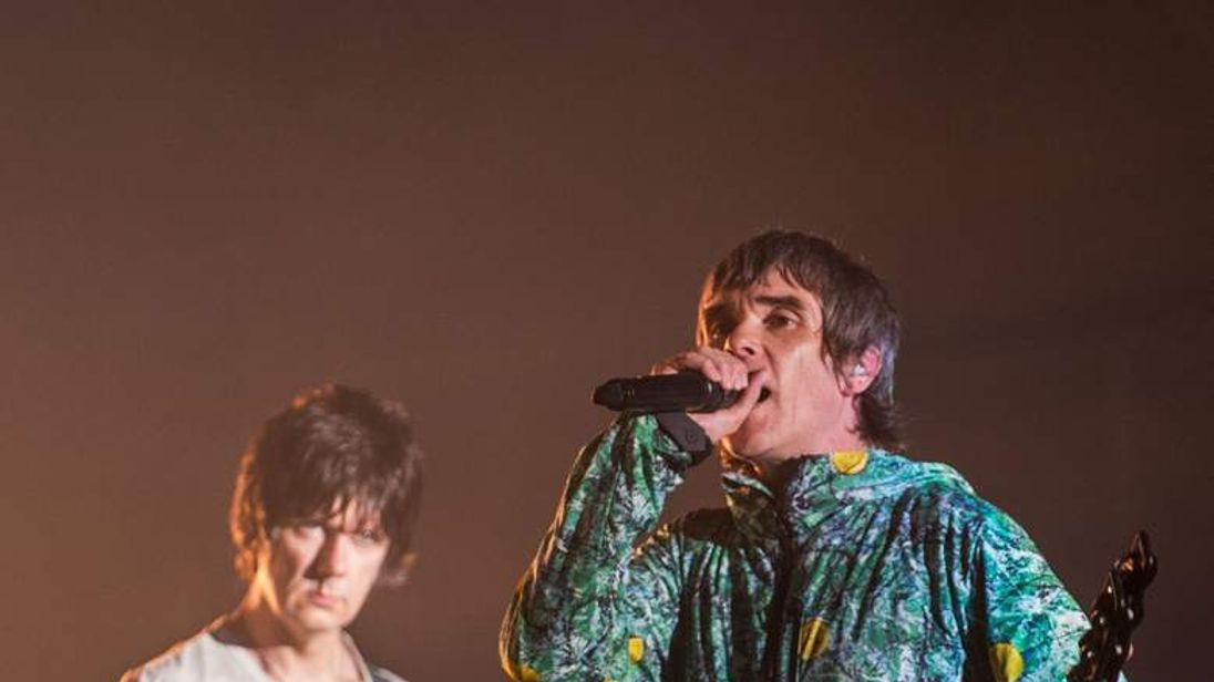 Ian Brown (R) and John Squire at the V Festival in Chelmsford