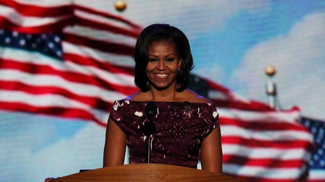 Michelle Obama Addresses Democratic National Convention
