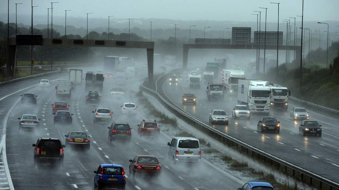 Motorists battle heavy rain on the M6. (File picture)
