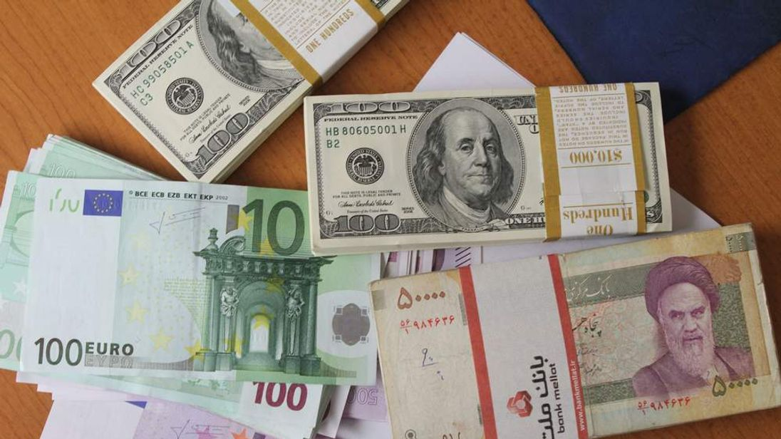 US dollars and Iranian rials