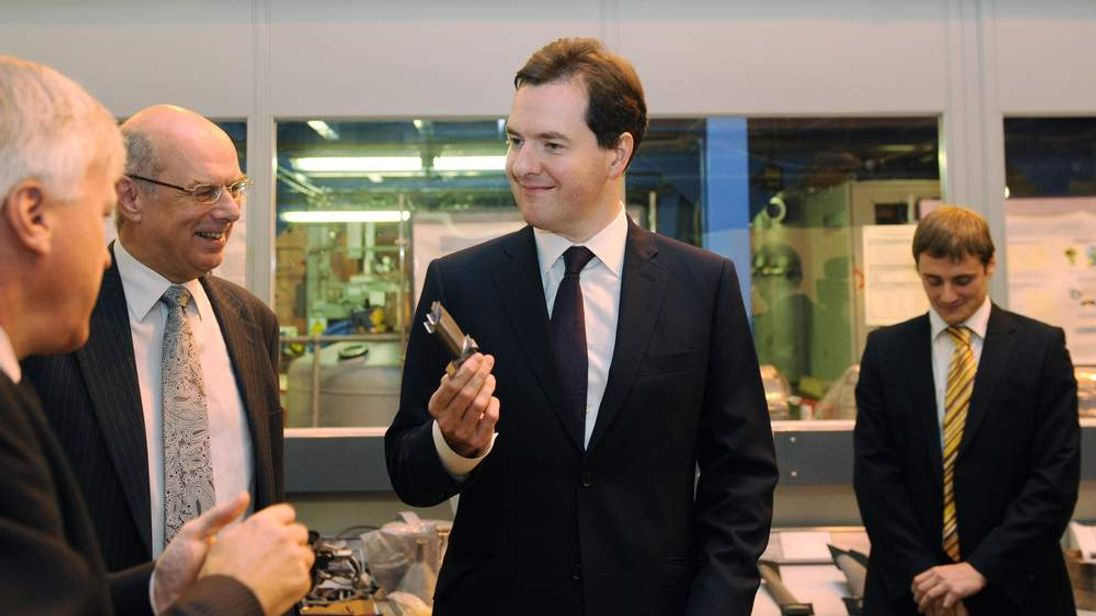 George Osborne at the University of Birmingham