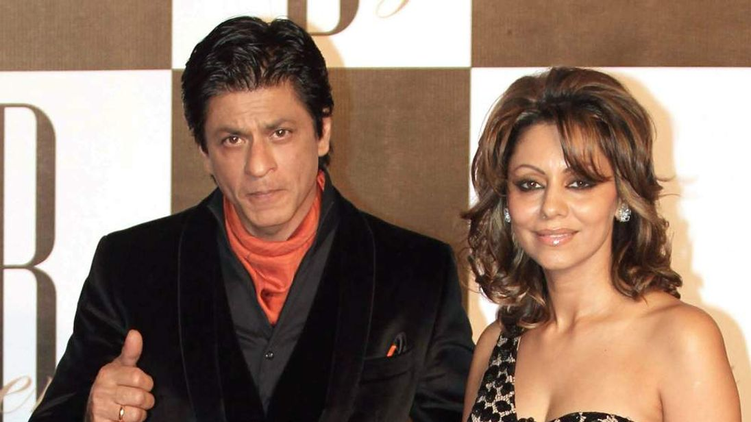 =Shah Rukh Khan with his wife Gauri