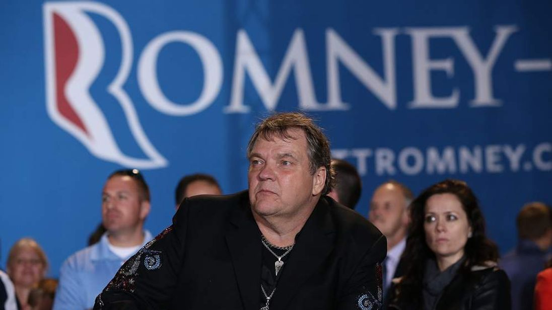 Meat Loaf appears at Romney rally