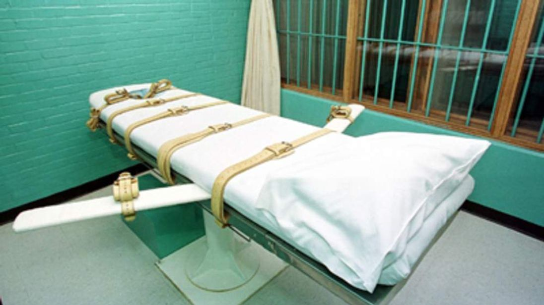 Lethal injection chamber in US prison