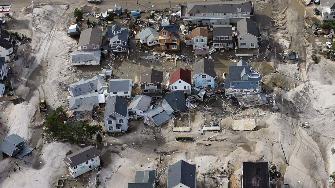 Homes wrecked by superstorm Sandy in Seaside Heights, New Jersey