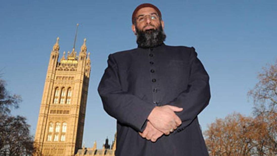Anjem Choudary outside Westminster