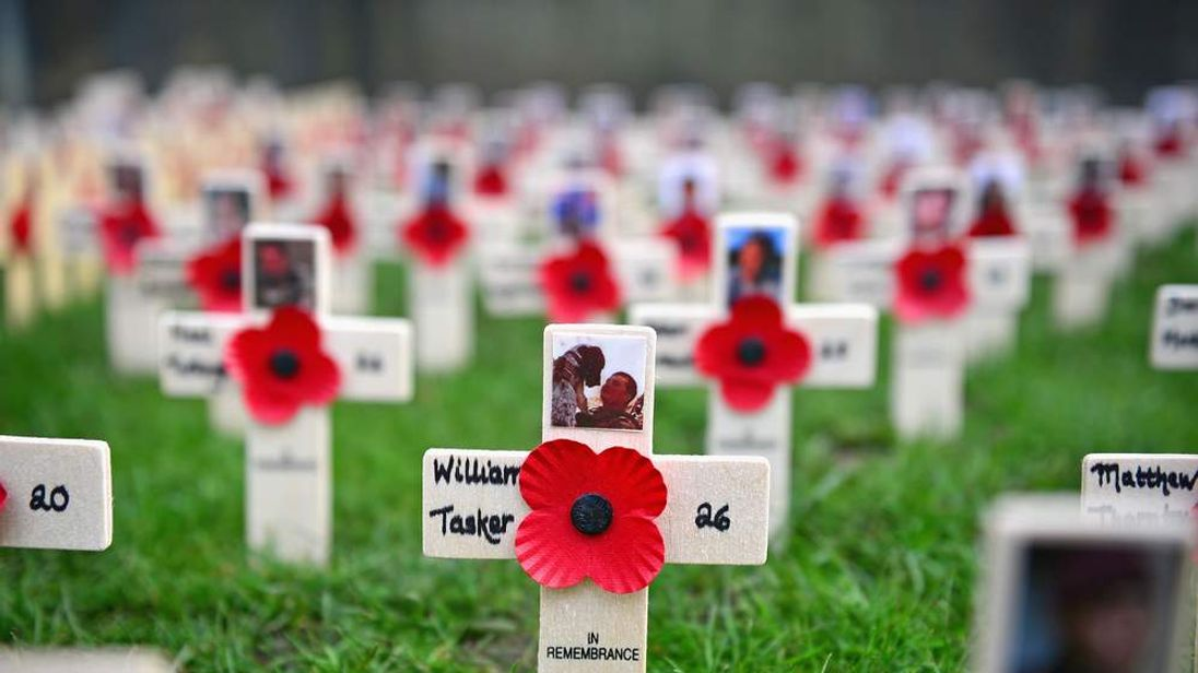 Crosses at the Edinburgh Field of Remembrance
