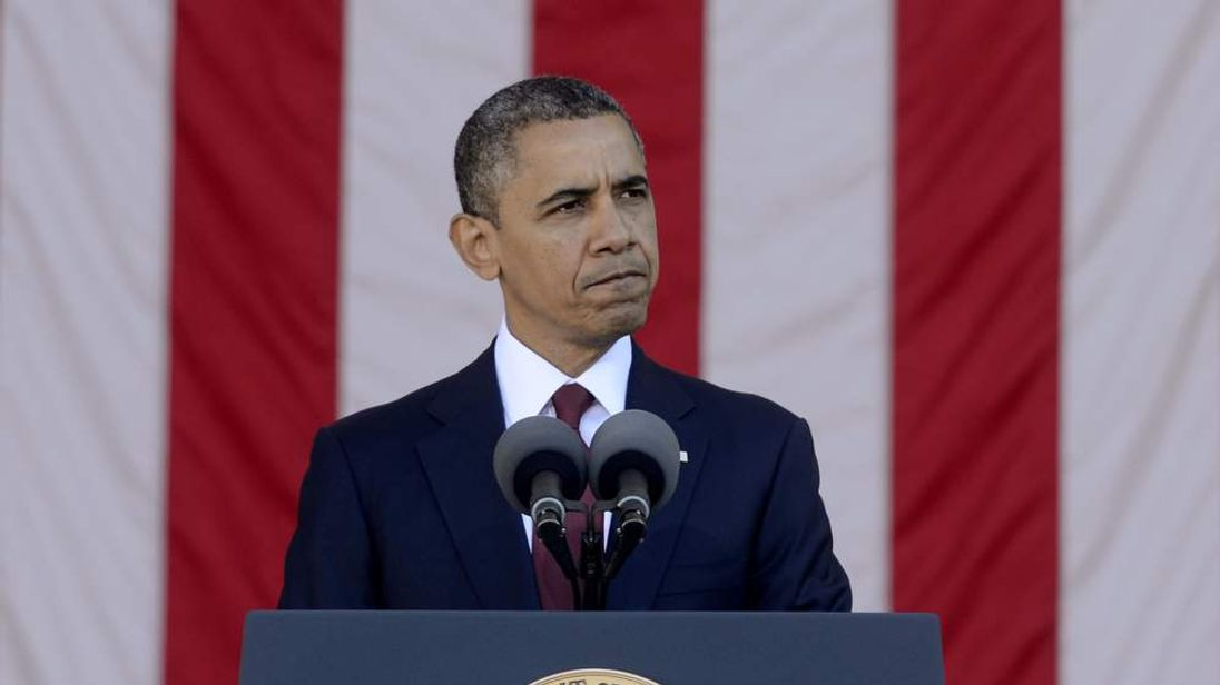 Barack Obama on Veterans' Day at Arlington