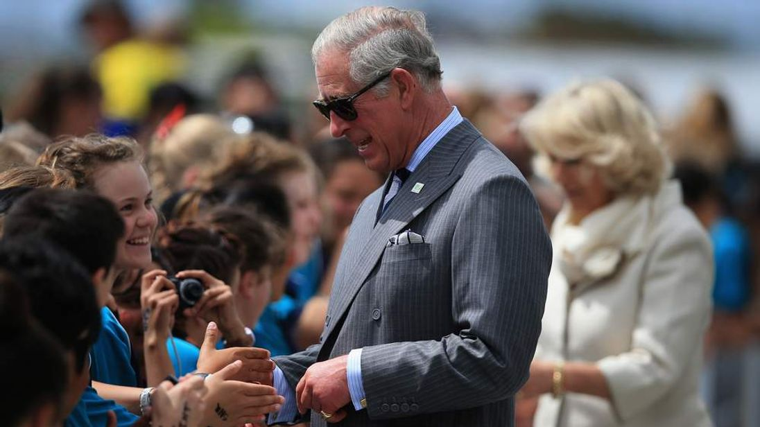 Prince Charles and Camilla, Duchess of Cornwall, in Auckland, New Zealand
