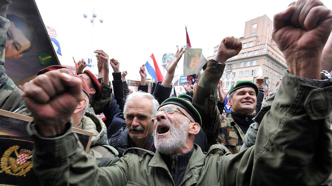 Crowds in Zagreb cheer the news