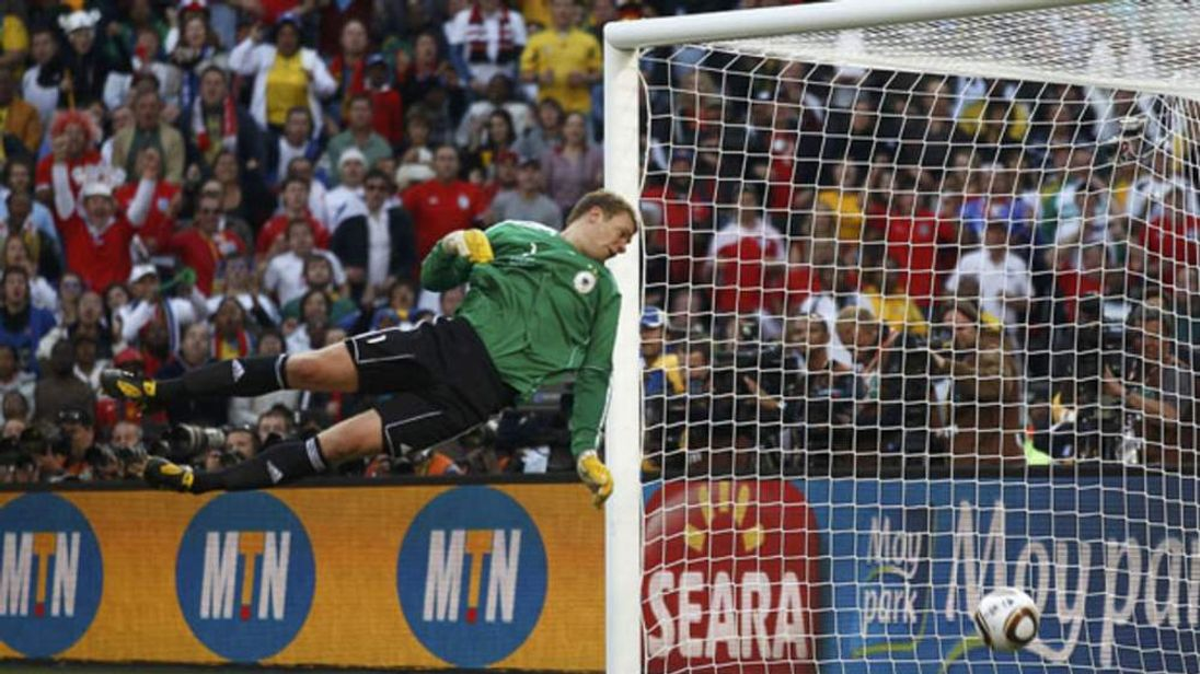 Frank Lampard's goal against Germany is disallowed