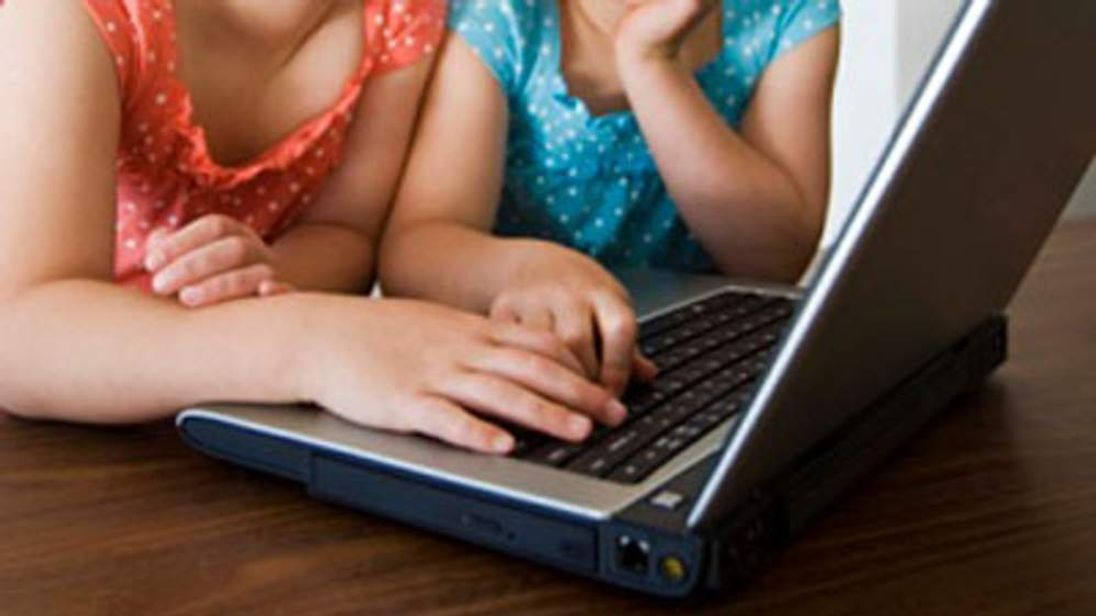 Girls at a laptop