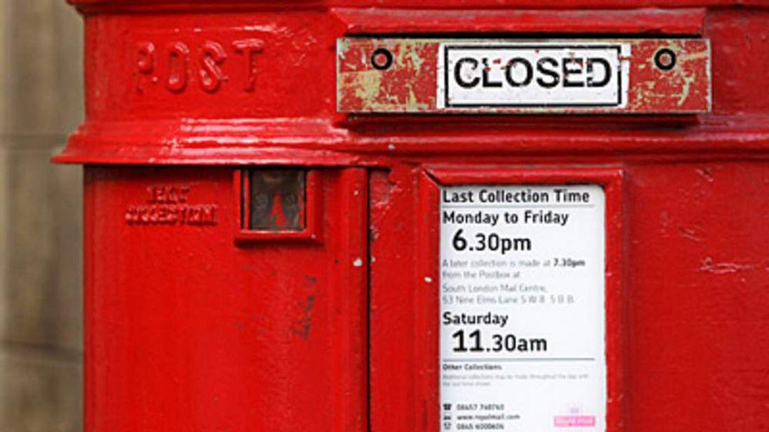 Closed Royal Mail post box