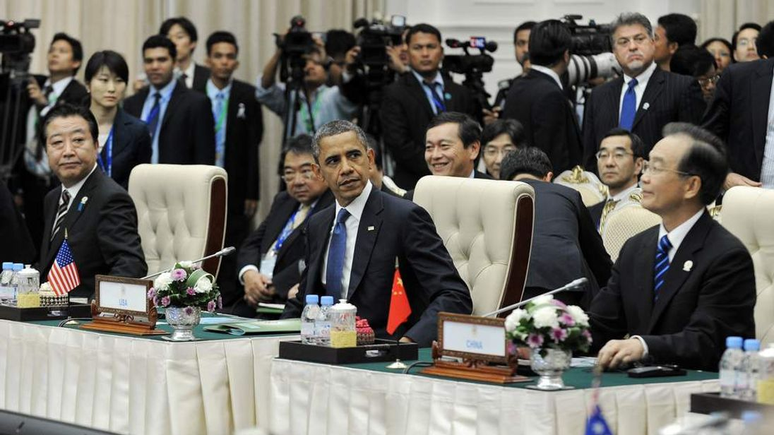 Barack Obama at Asia Summit in Phnom Penh