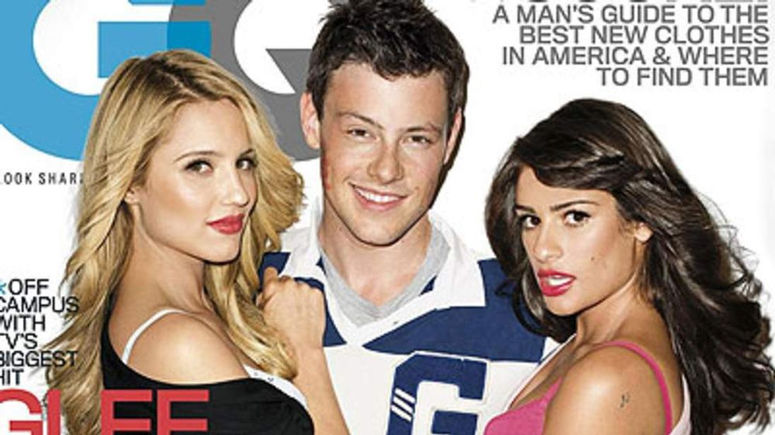 Glee stars Dianna Agron, Cory Monteith and Lea Michele on cover of GQ magazine
