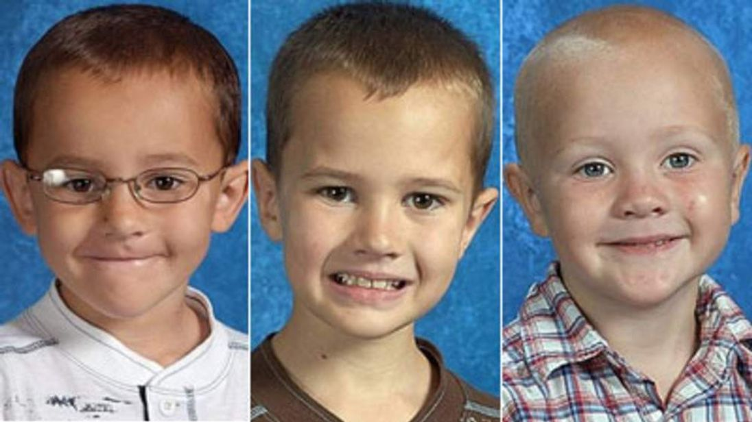 Alexander, Andrew and Tanner Skelton from Michigan, Ohio who have not been seen since their father John tried to hang himself