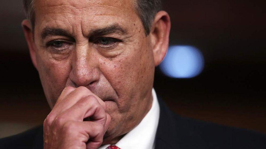 House Speaker John Boehner Addresses The Press On The Ongoing Fiscal Cliff Negotiations