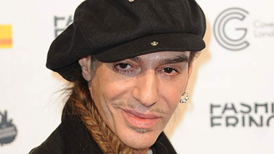 John Galliano attends Fashion Fringe fashion show in Covent Garden during London Fashion Week on September 18, 2010 in London, England