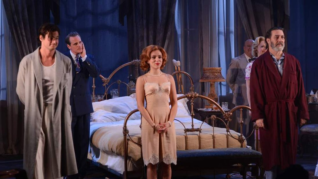 """""""Cat On A Hot Tin Roof"""" Opening Night - Arrivals And Curtain Call"""