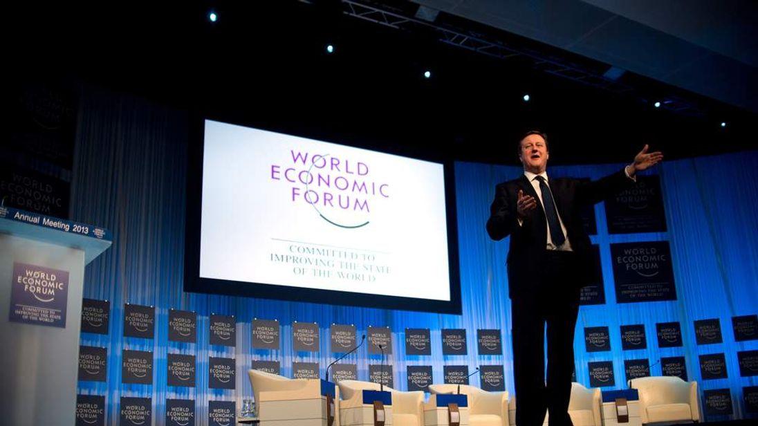 David Cameron at Davos