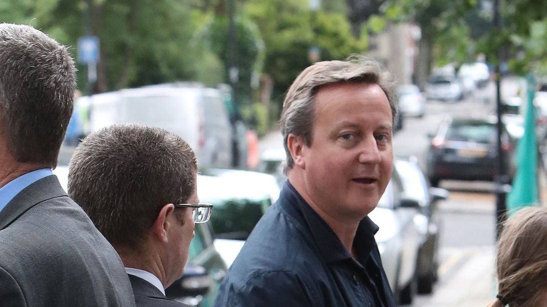 Cameron Begins Post-PM Life With School Run