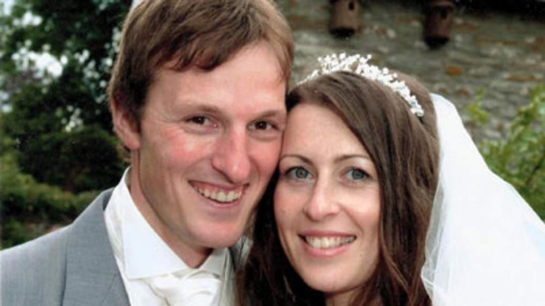 Undated handout photo of Ben and Catherine Mullany on their wedding day as two are on trial accused of murdering the British honeymoon couple in Antigua.