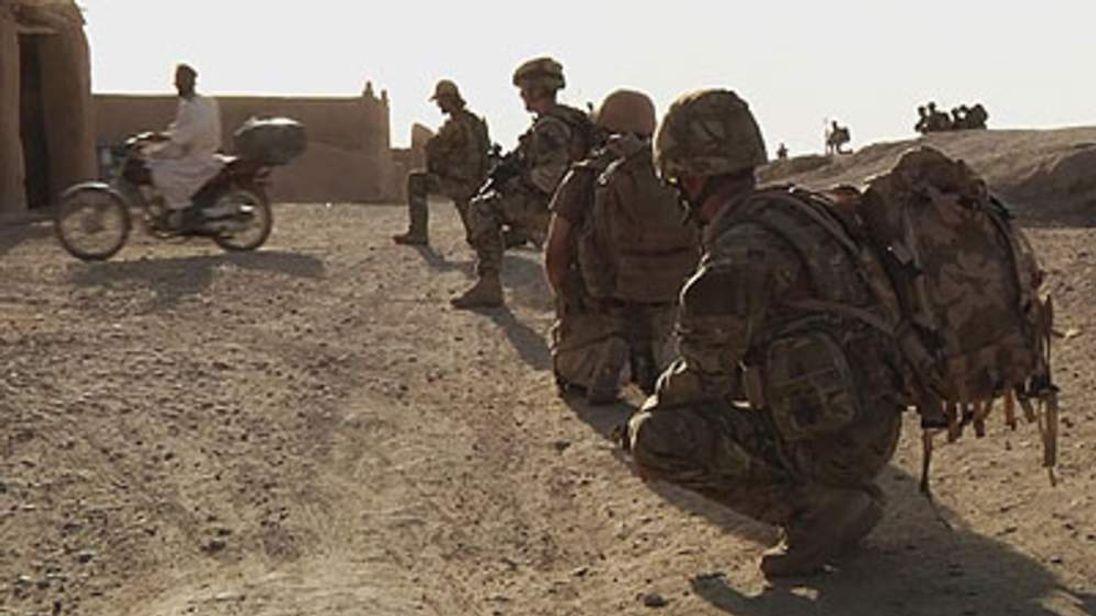 Royal Marines on patrol in Afghanistan
