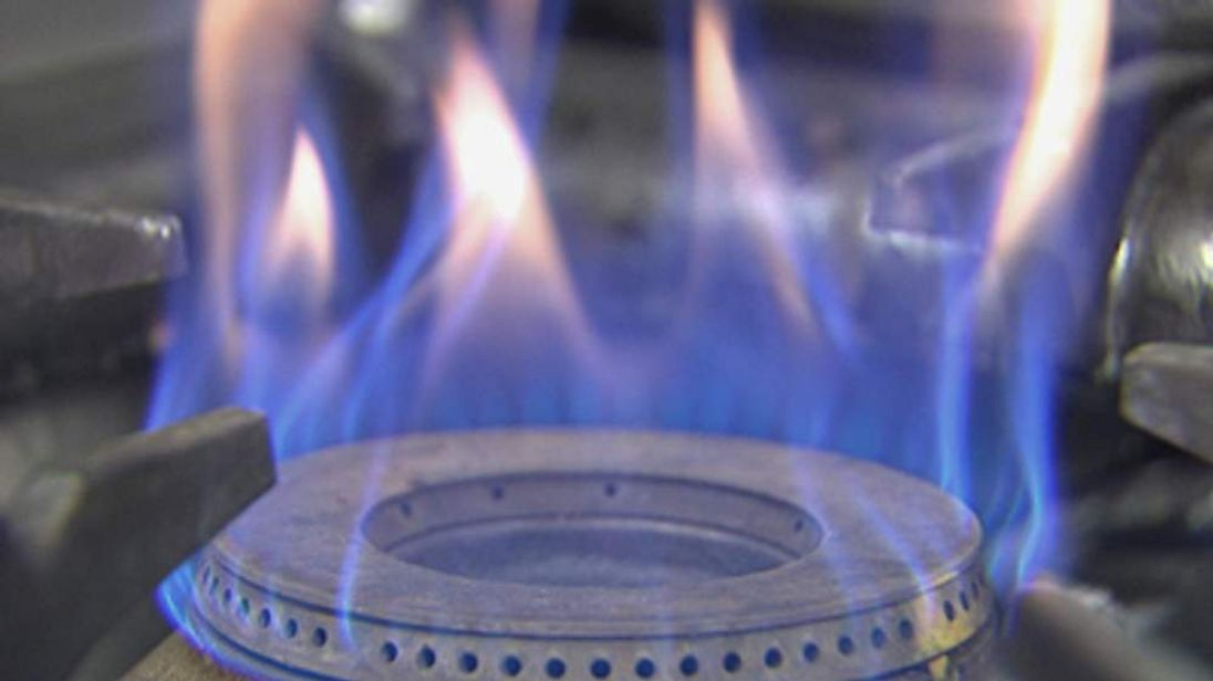 A flaming gas ring