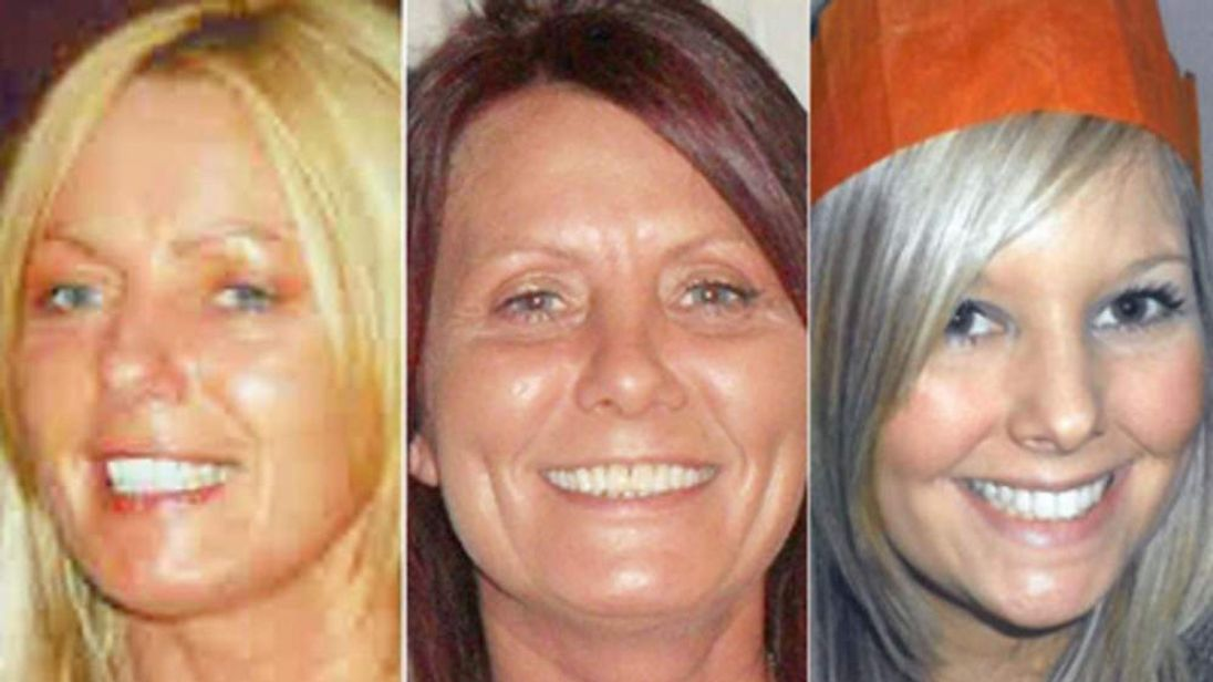 Susan McGoldrick, 47, her sister, Alison Turnbull, 44, and her niece, Tanya Turnbull, 24