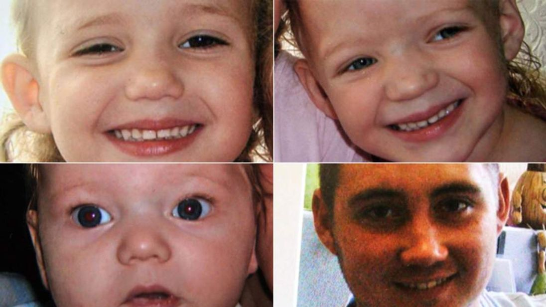 House fire victims in Freckleton, Lancashire: (Top) Ella and Holly Smith, (bottom left) Jordan Smith, (bottom right) Reece Smith