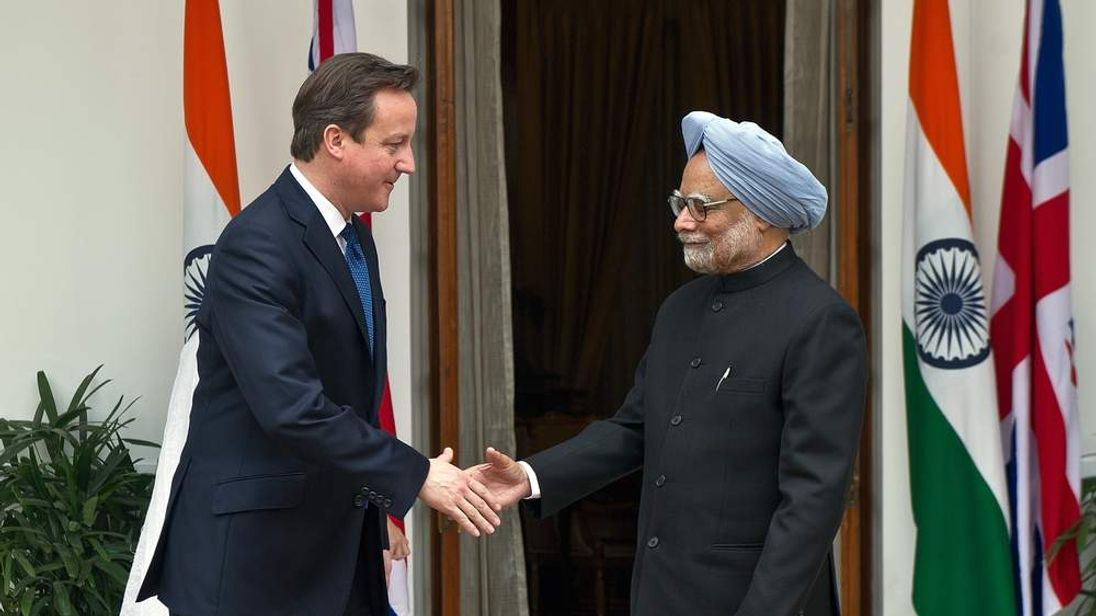 David Cameron meets Indian PM Manmohan Singh