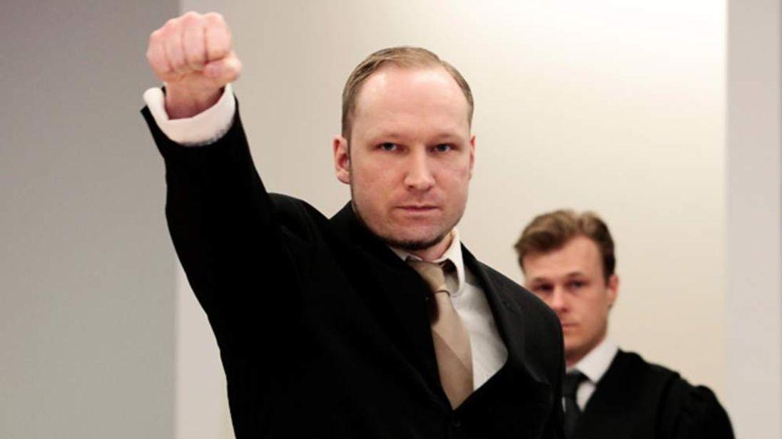 Norwegian mass killer Anders Breivik on second day of his trial