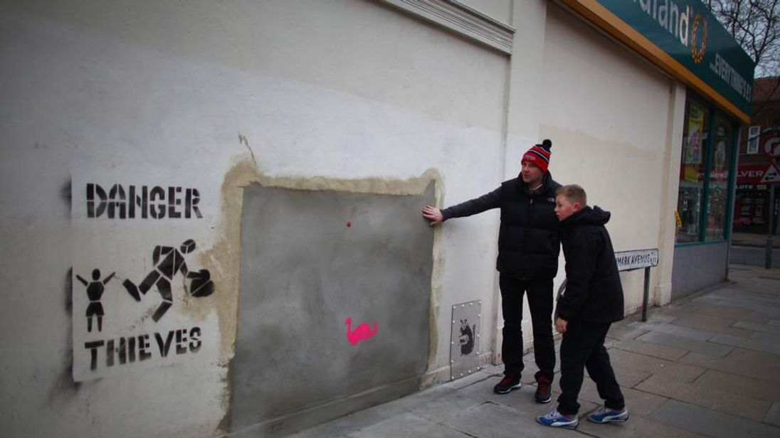 Banksy's Removed Poundland Mural To Go Up For Sale In Miami