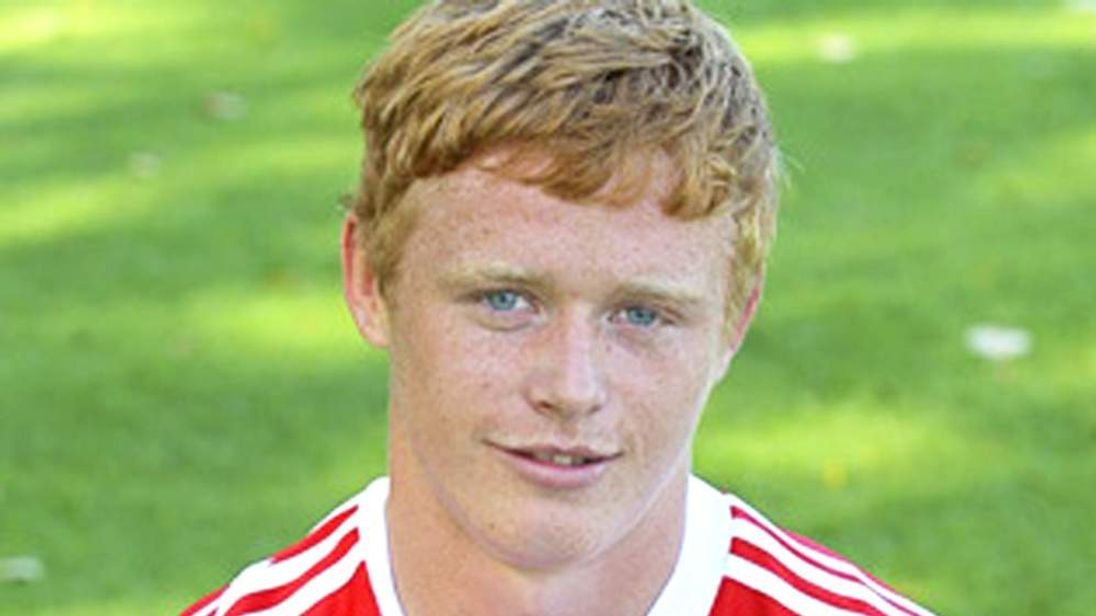 Andrew Hall plays for Stoke City FC's under-18s side