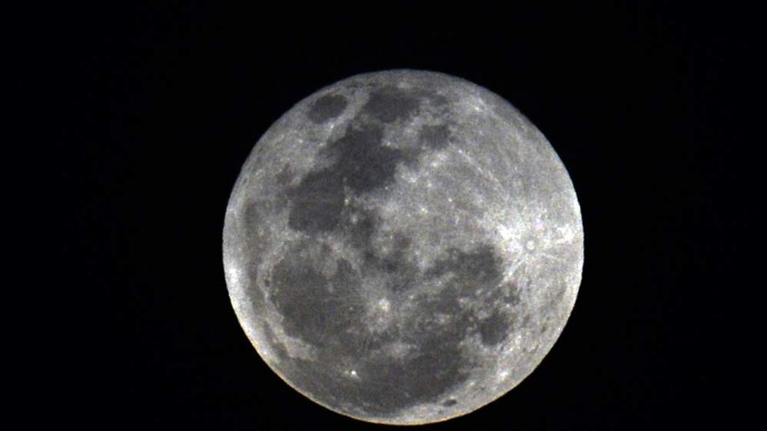 A full moon seen from Panama City