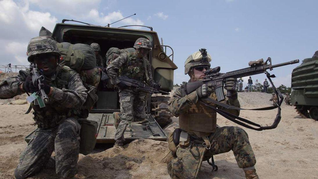 U.S. And South Korea Marines Hold Landing Operation