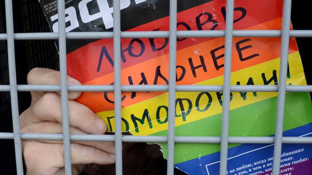 Russia gay rights protest