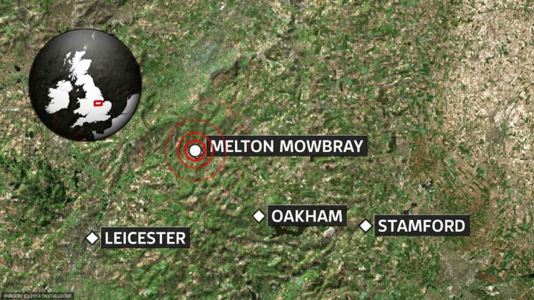 Rutland earthquake map