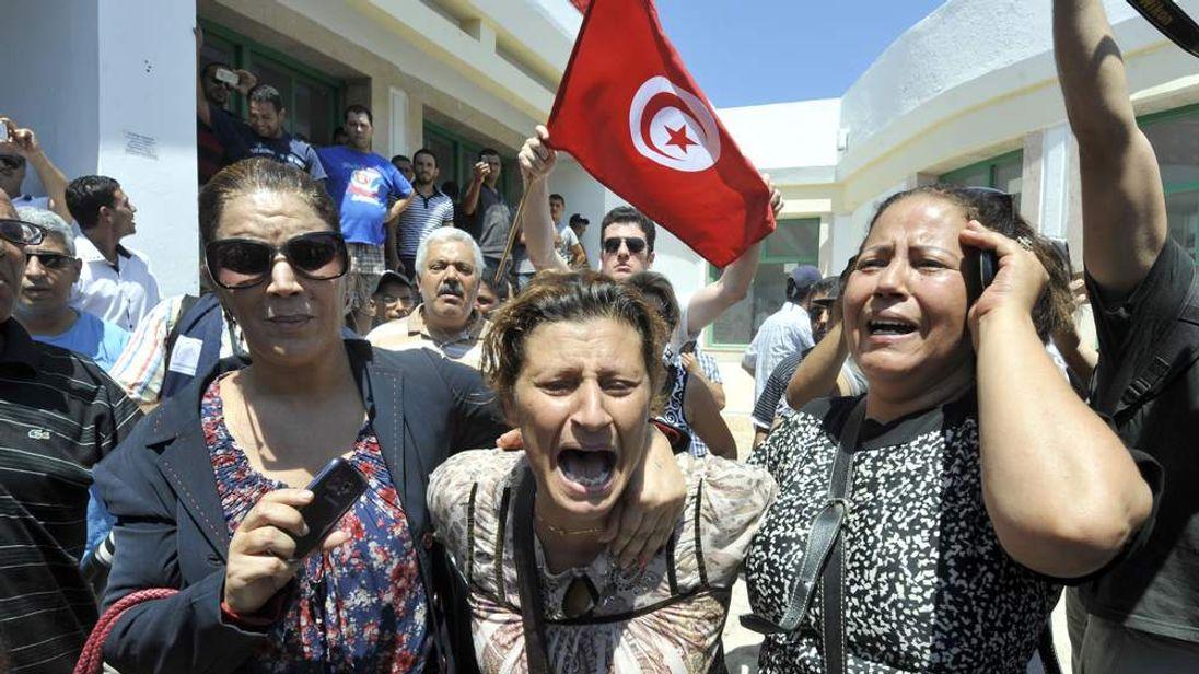 Mohamed Brahmi protests