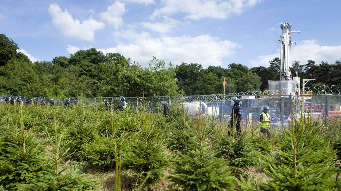 Cuadrilla's drill site in Balcombe