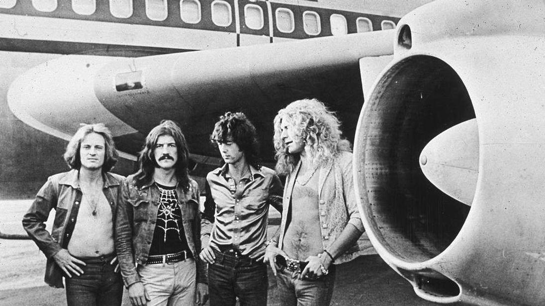 Led Zeppelin in 1973. L-R John Paul Jones, John Bonham, Jimmy Page and Robert Plant