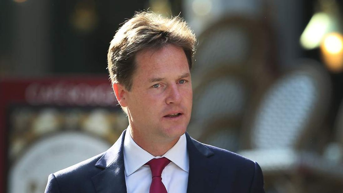 Deputy Prime Minister Nick Clegg Arrives For His Weekly Radio Show