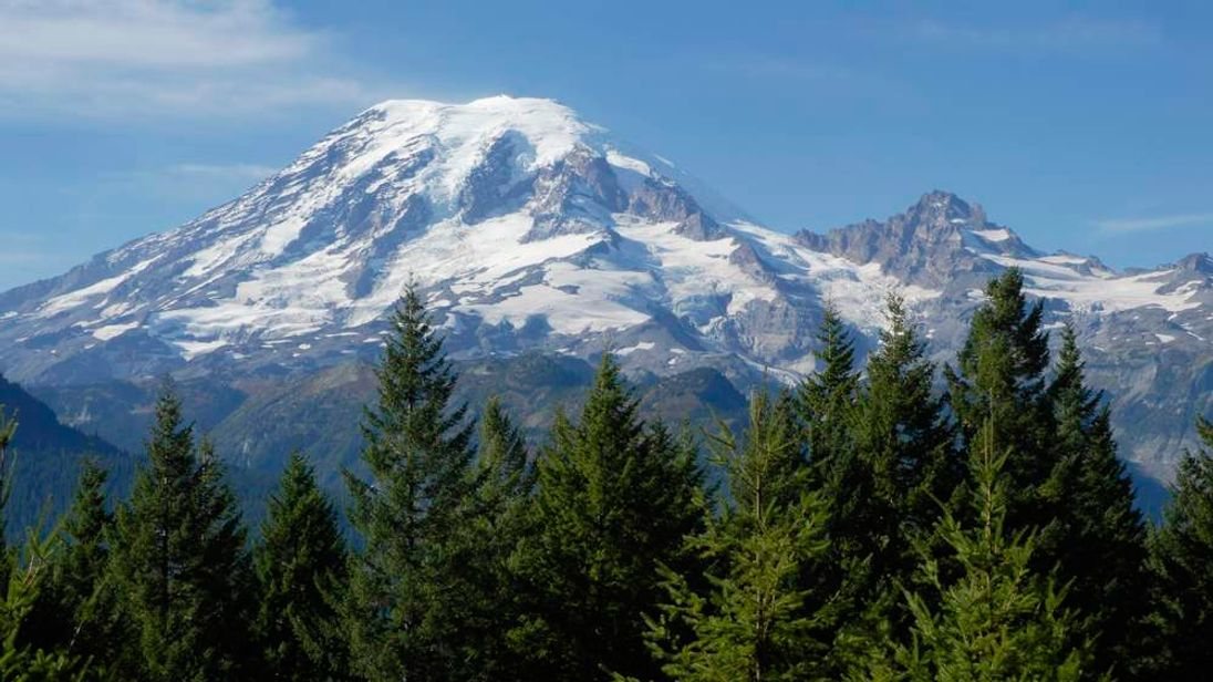 Mount Rainier, the 17th tallest mountain in the United States
