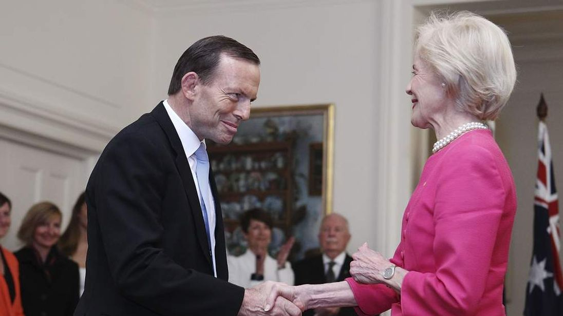 Abbott Government Sworn In At Government House