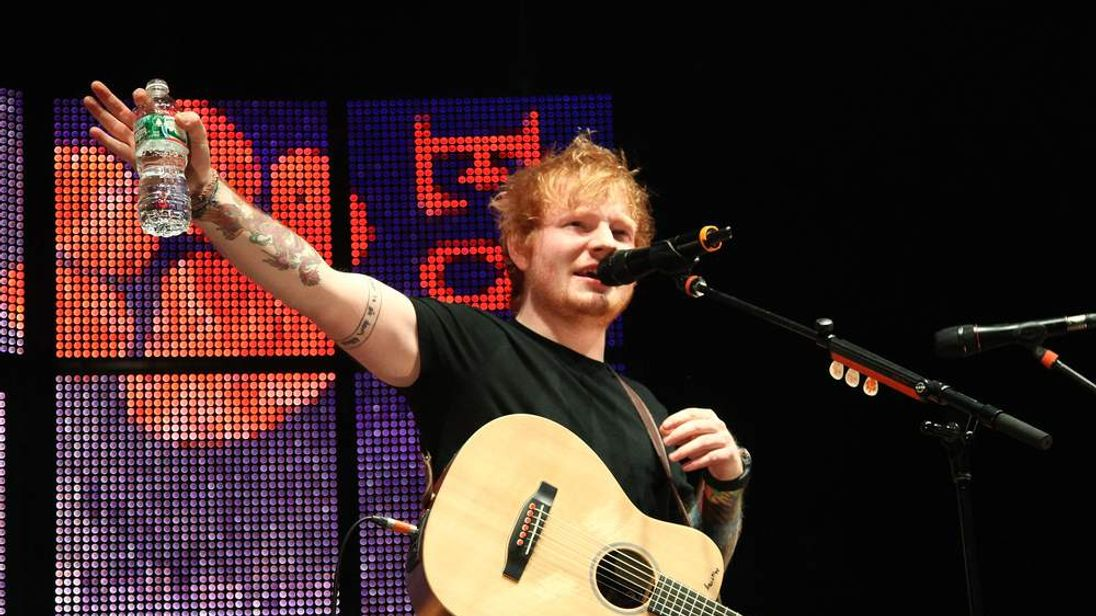 Ed Sheeran performs in New York City's Madison Square Garden