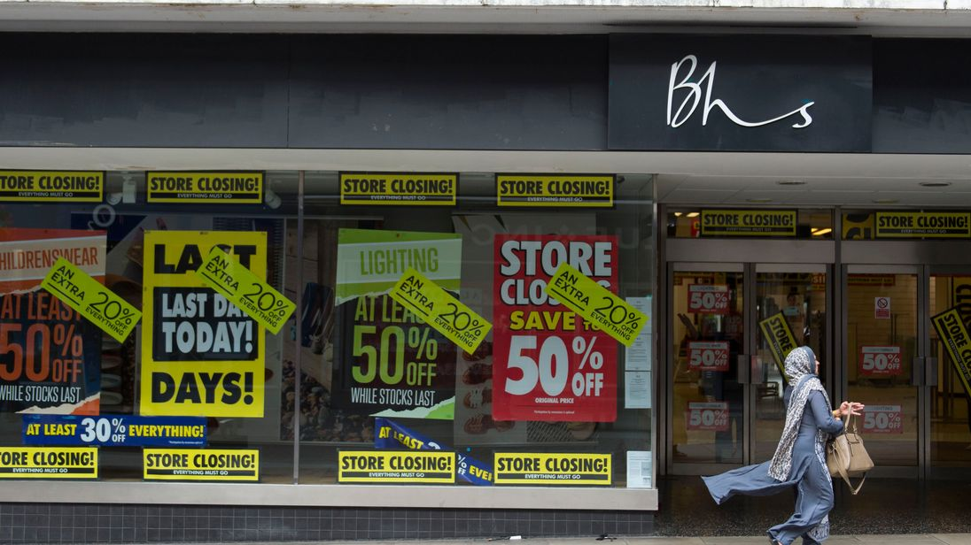 BHS stores are shutting down