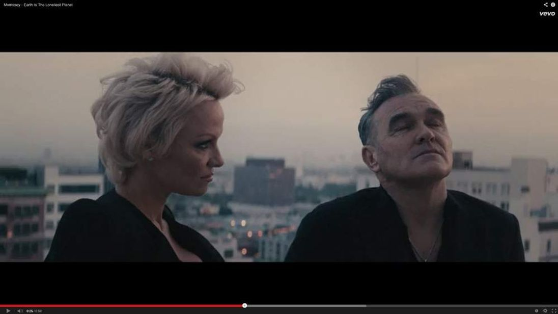 Morrissey and Pamela Anderson