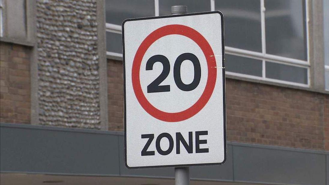 20mph road sign